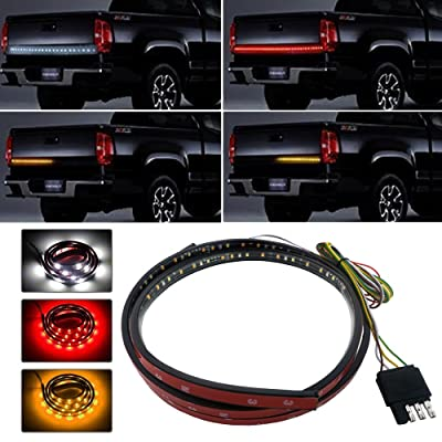 """48\"""" Truck Tailgate Side Bed Light Strip Bar 3 Colors 90 LEDs Waterproof Turn Signal,Running,Brake,Reverse Lights for Pickup SUV Jeeps RV Dodge Ram Toyota Chevy GMC Red/White/Yellow: Automotive [5Bkhe1004360]"""
