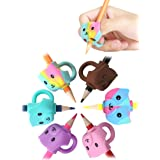 JARLINK 6 Pack Pencil Grips for Kids Handwriting, Ergonomic Writing Training Aid Grip, Correction Finger Grip for Kids, Adult
