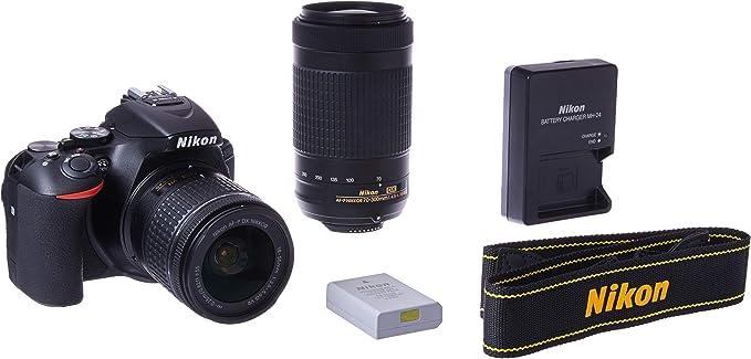 Câmera Digital Nikon Preto 24.2mp - D5600 | 18-55mm | 70-300mm