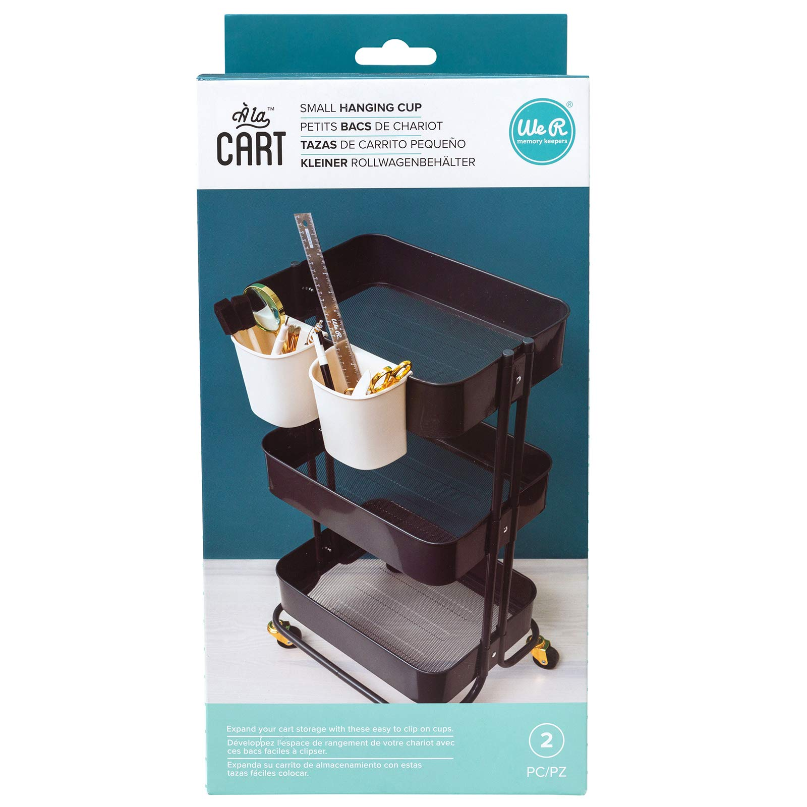 We R Memory Keepers 660281 0633356602811 Accessories A la Cart Cups-Small (2 Piece), Multi by We R Memory Keepers