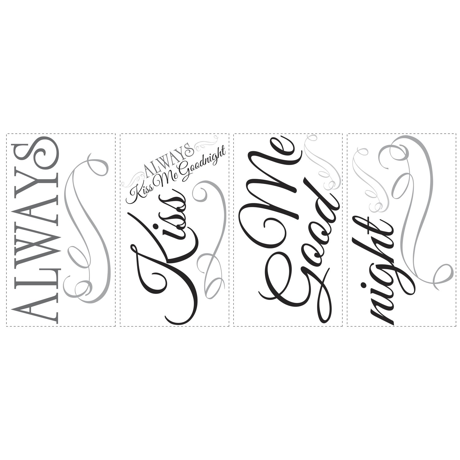 Superb Roommates RMK2084SCS Always Kiss Me Goodnight Peel And Stick Wall Decals    Decorative Wall Appliques   Amazon.com