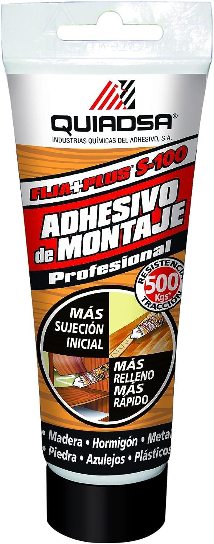 QUIADSA FIJA+PLUS S-100 Adhesivo de Montaje, 120 g: Amazon.es: Bricolaje y herramientas