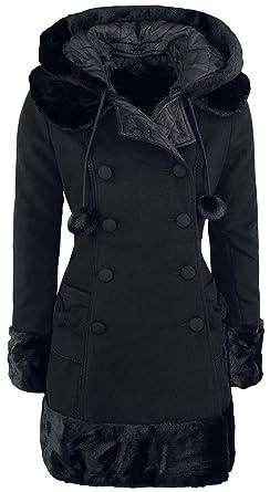 best website 5f182 62554 Hell Bunny Sarah Jane Coat Wintermantel schwarz