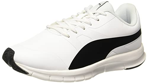 a0572d0c9f7 Puma Unisex Flexracer Sl Black-White Running Shoes  Buy Online at Low  Prices in India - Amazon.in