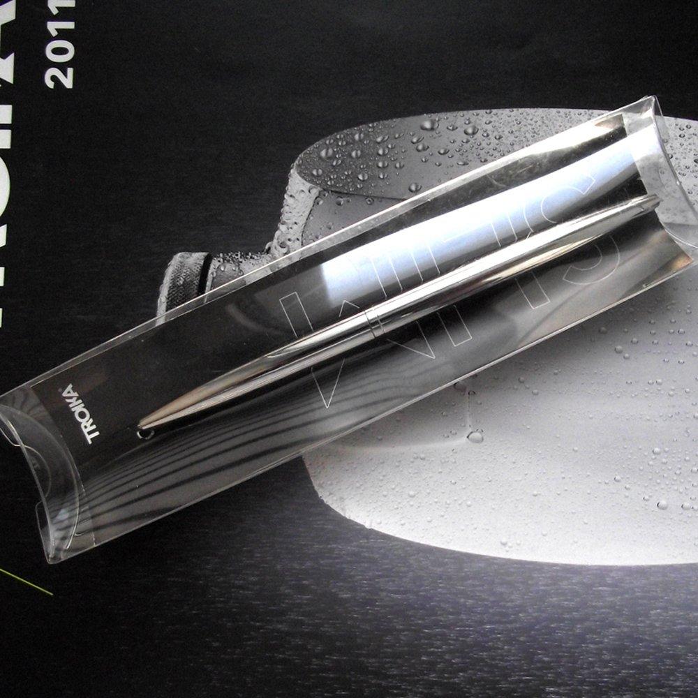 Troika Shiny Chrome Plated Designed Stylo /à Bille en M/étal Plaqu/é chrome brillant.