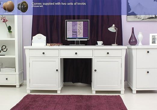 Hampton doble Pedestal oculta mesa para ordenador: Amazon.es: Hogar