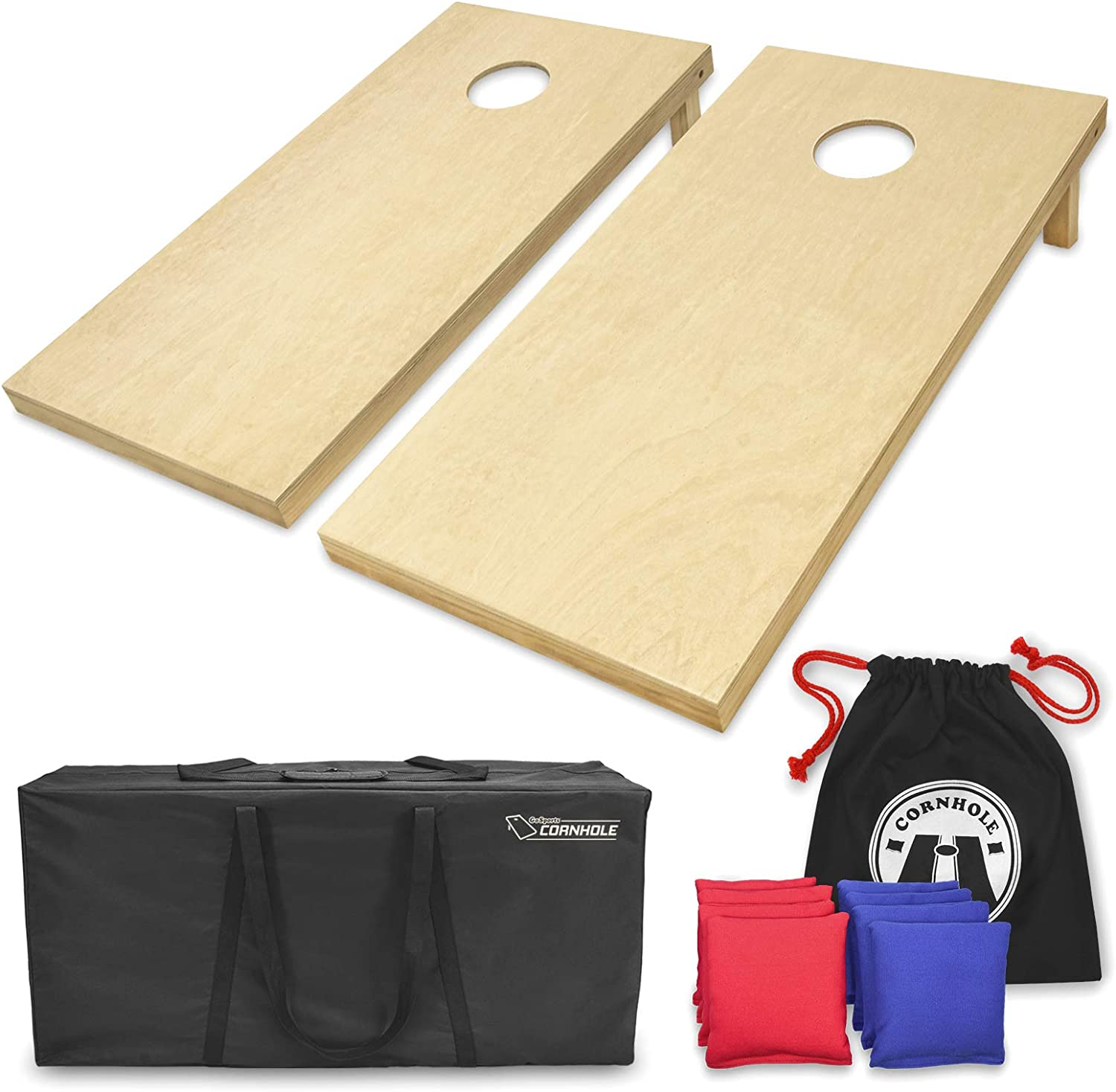 Amazon.com : GoSports Solid Wood Premium Cornhole Set - Choose ...
