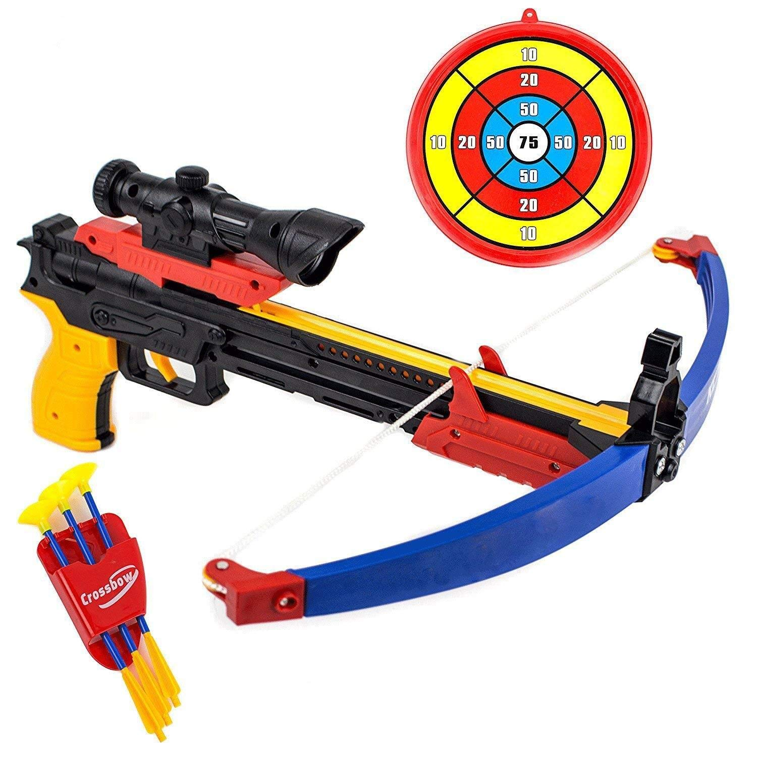 SHDZKJ Archery Bow and Arrow Toy Set with Target Outdoor Sport Game by SHDZKJ
