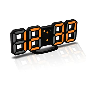 4d7bf70c87de JCH Reloj Despertador Digital 3D LED