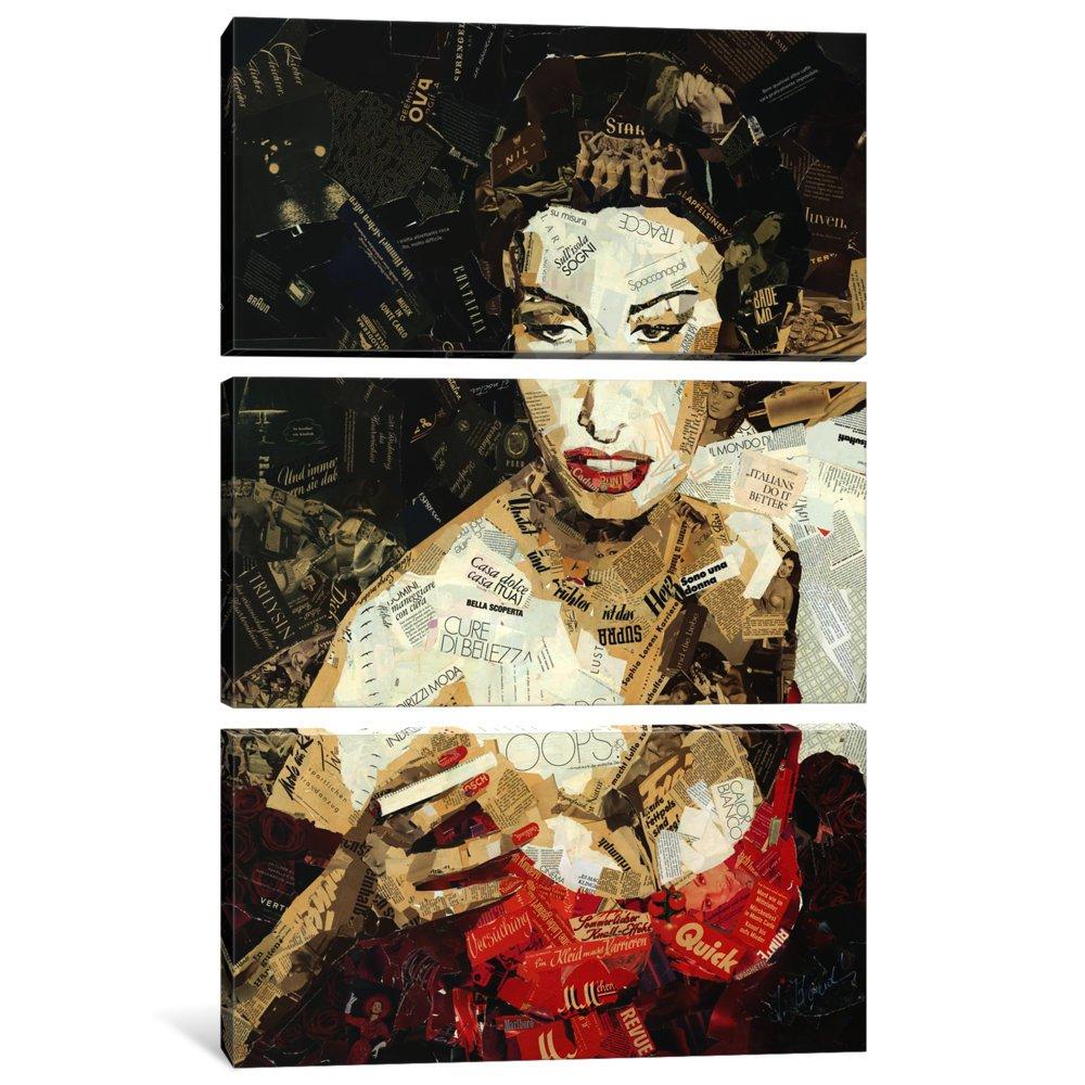 60 x 40//1.5 Deep iCanvasART 3 Piece Italians Do It Better It8 Canvas Print by INES Kouidis