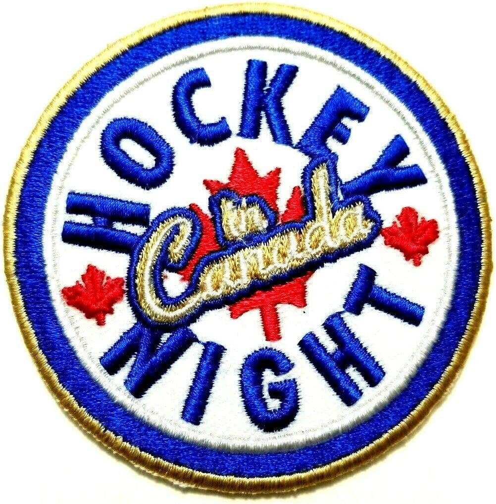 Hockey Night In Canada Iron On Sew On Patches Crafts Applique Embroidered