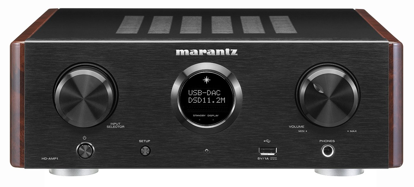 Marantz HD-AMP1 – Stereo Integrated Amplifier with Built-in DAC Premium Sound Quality Dual Analog Input Dedicated Headphone Amplifier MusicLink Space Saver Design