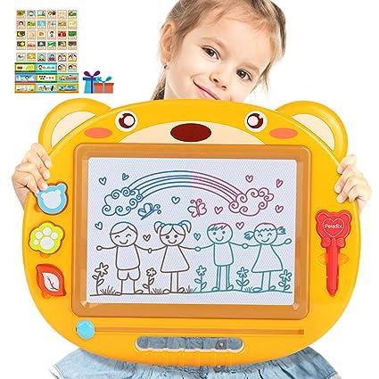 Peradix Ardoise Magique 43X35cm Tableau à Dessin magnétique effaçable  coloré pour Enfants et bébés Peindre et écrire (Ours Jaune)