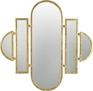 Creative Co-op Art Deco 5-Part Wall Gold Finish Mirror