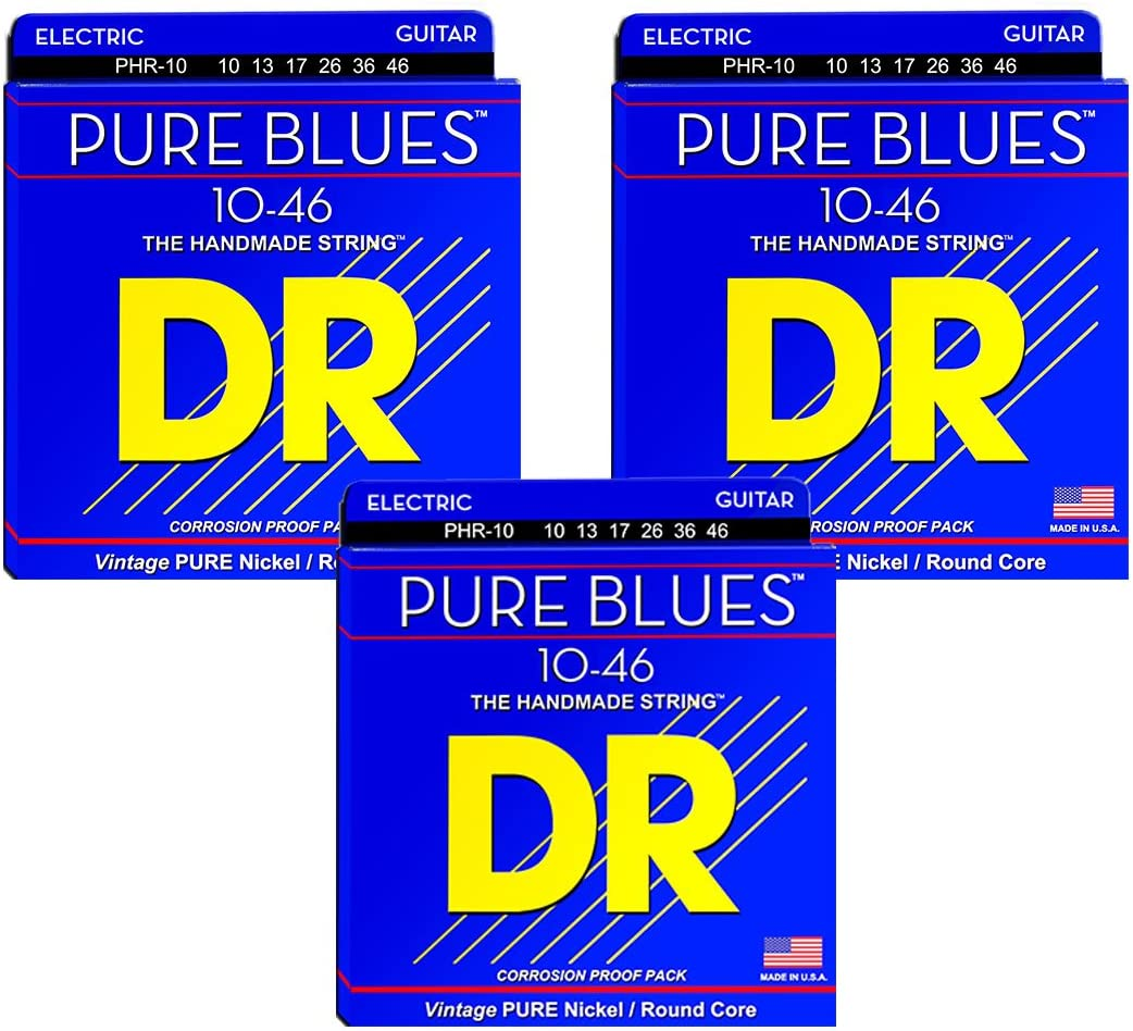 DR Strings PHR-11 Pure Blues Pure Nickel Electric Guitar Strings 11-50  2 PACKS