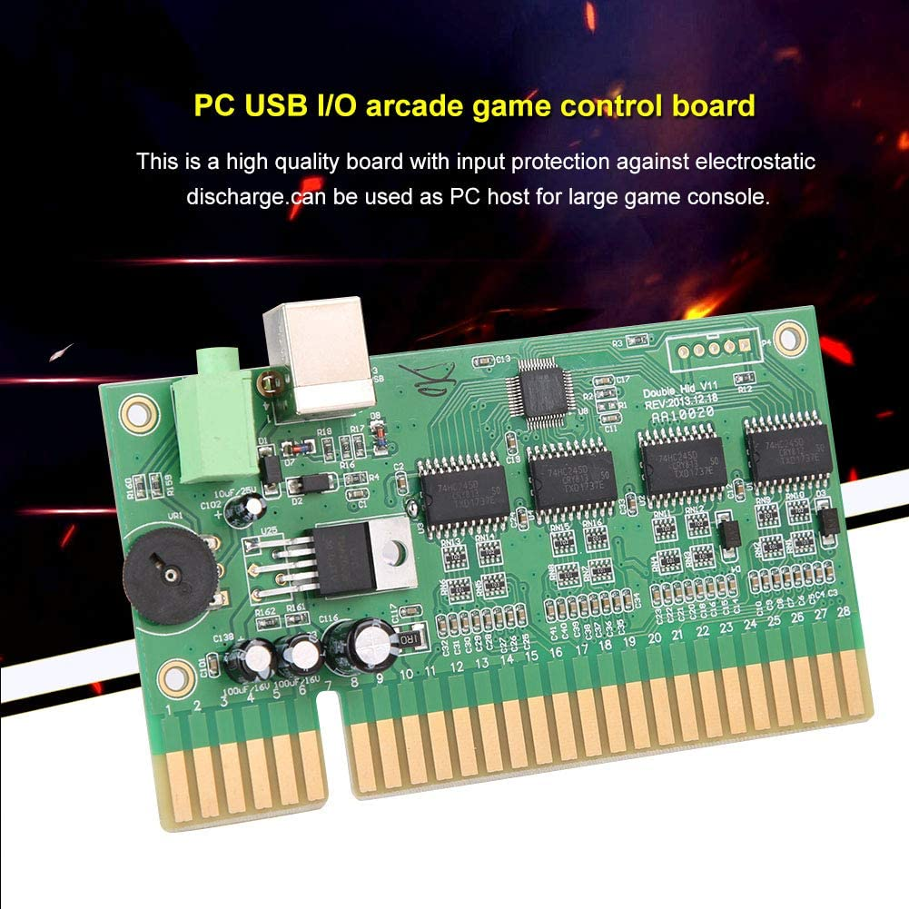 28P Game Console Motherboard Controller Game Accessories USB PC to for Jamma Mainboard PC USB I//O Arcade Game Control Board Bewinner Game Motherboard