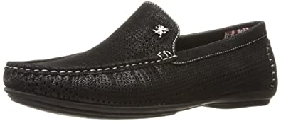Stacy Adams Men's Pippin-Perfed Driving Moc Oxford, Black, ...