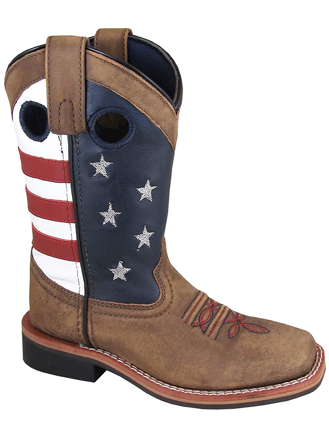 fd2c5dd4ed2 Smoky Children's Stars and Stripes Patriotic Western Cowboy Boot - Vintage  Brown