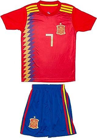 SVB España wm18 # 20 Asensio & # 7 Morata – Niños Camiseta y pantalones, Morata (Heim), 140: Amazon.es: Deportes y aire libre