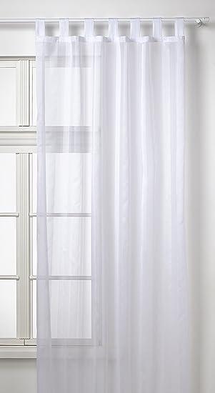 Vorhang Aufhängen amazon de gardine vorhang schlaufenschal transparent aus