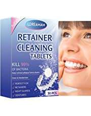 Denture Cleaning Tablets,Retainer Cleaning Tablets,Denture Clean Removes Bad Odor,Removes Stubborn Stains from Dentures, Retainers,Removable Dental Appliances,Dental Oral Mouth Guard,Denture 30pcs