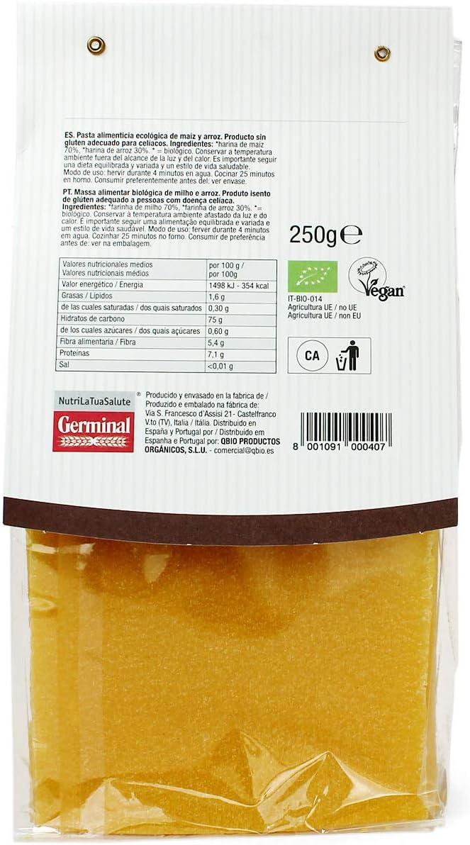 Lasaña bio de maíz y arroz sin gluten - Germinal - 250g: Amazon.es: Alimentación y bebidas