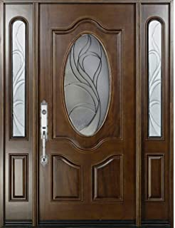 Solid Mahogany Exterior Wood Door 12