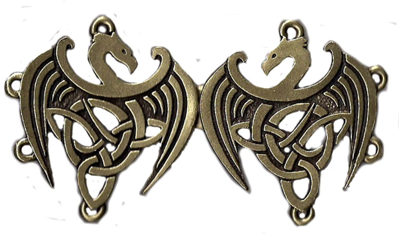 Medieval Bronze Plate Celtic Dragon Cloak Clasp   DeluxeAdultCostumes.com