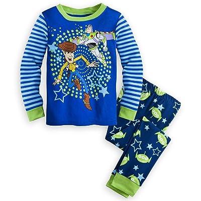 Disney Store Toy Story Boy 2PC Long Sleeve Tight Fit Cotton Pajama Set Size 5