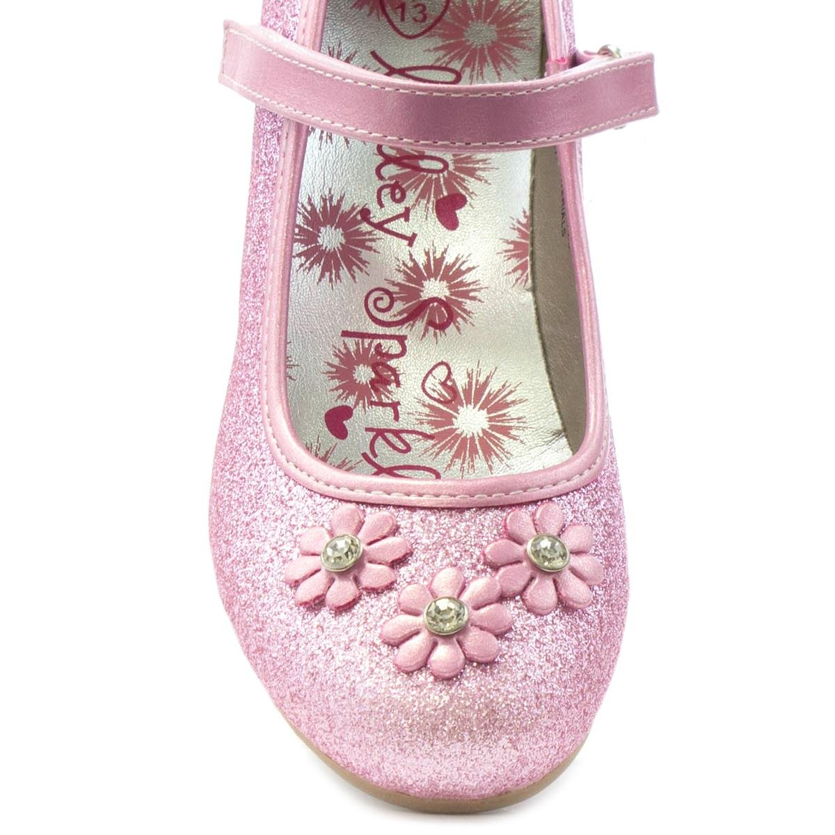 To acquire Lilley Sparkle Girls Pink Flower Party Shoe-20807 picture trends