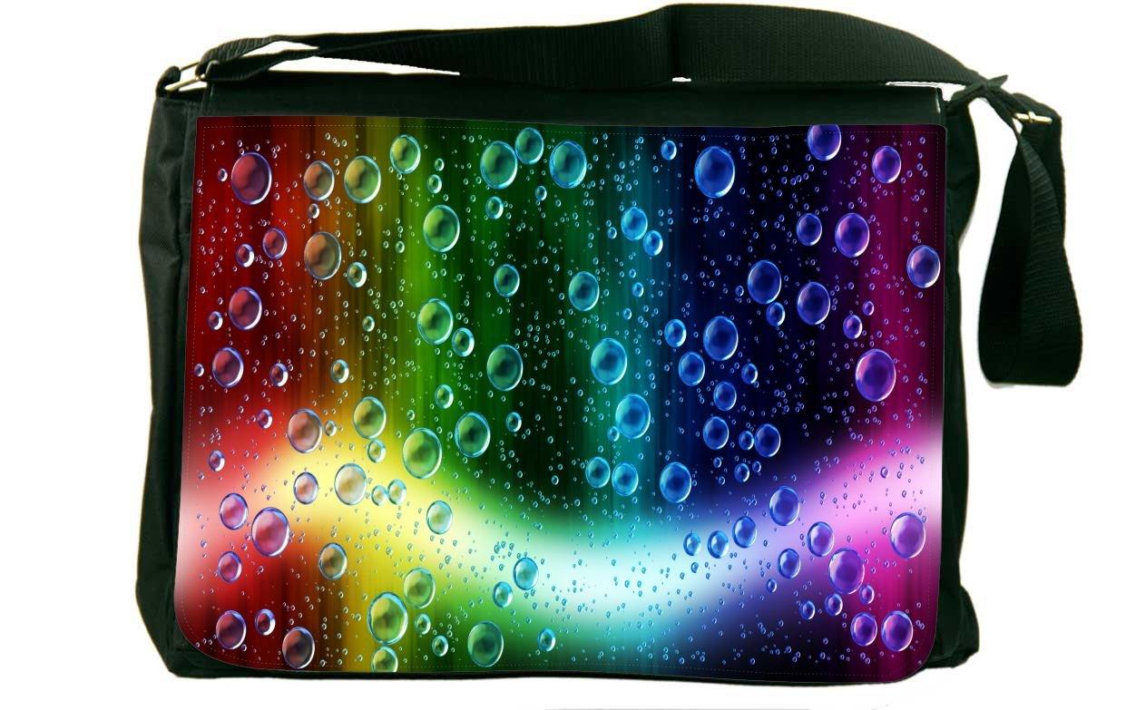 Rikki Knight Cheerful Colors Of Raindrops On The Window Messenger Bag School Bag