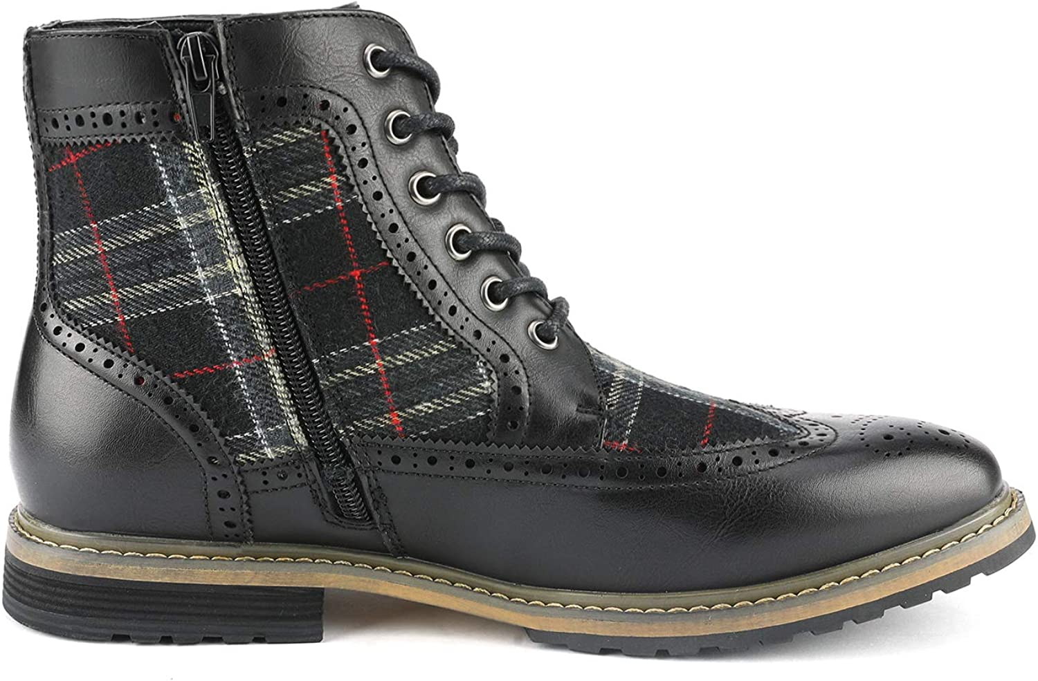 Bruno Marc Mens Bergen Classic Lace Up Oxford Dress Boots