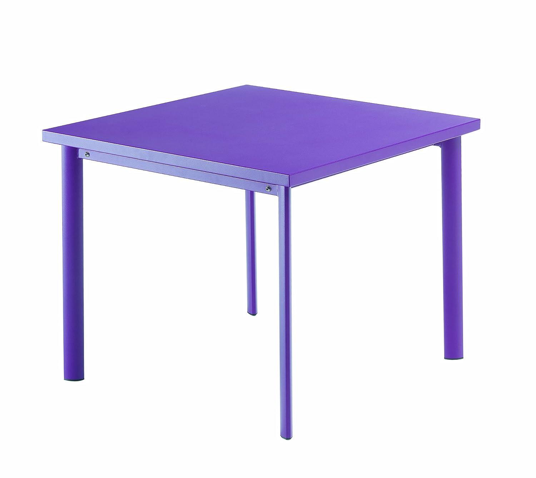 Emu 303068200 Star Tisch 306, 90 x 90 cm, pulverbeschichteter Stahl, lila