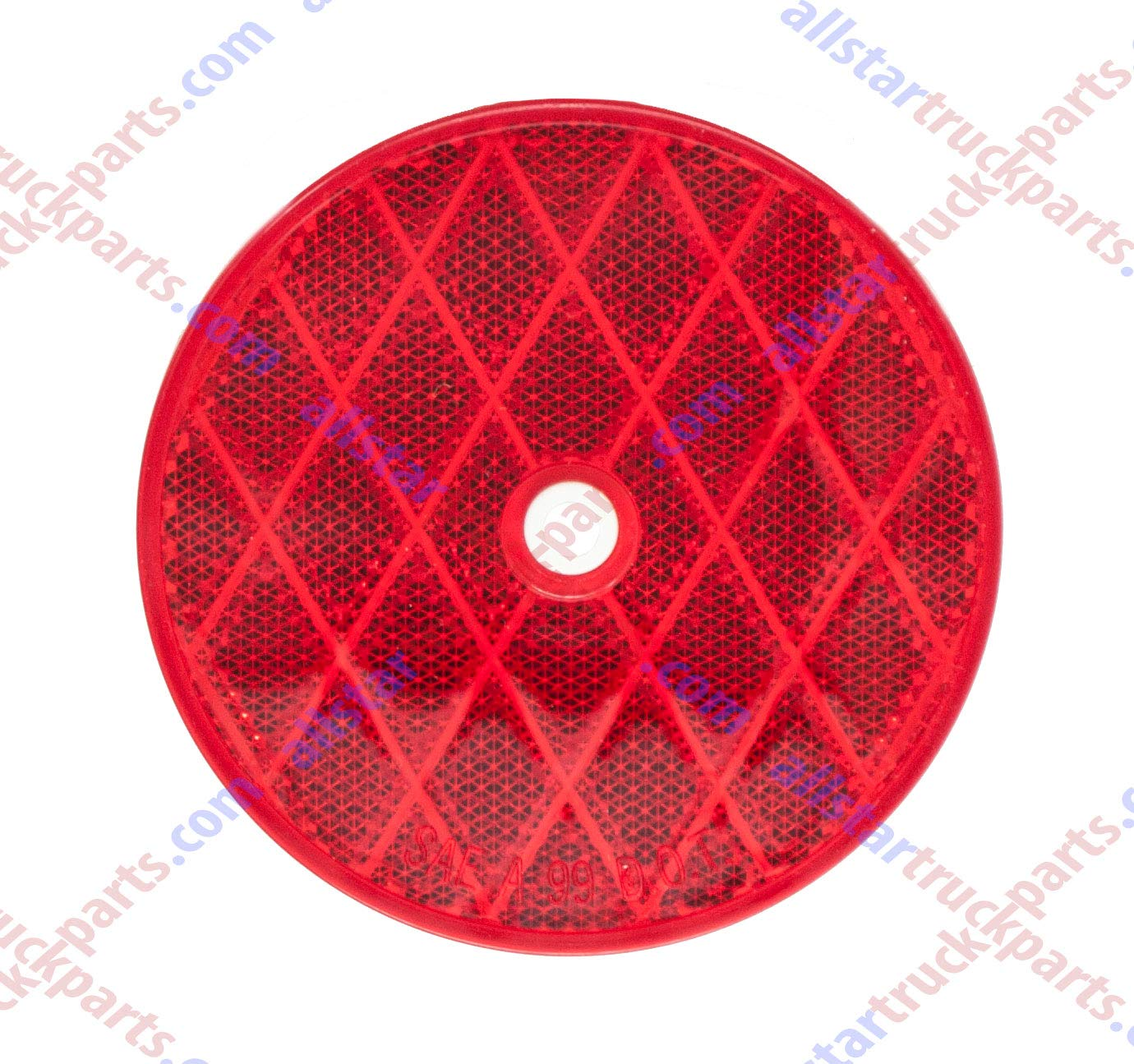 ALL STAR TRUCK PARTS 2 Pack for Trailers Boats RVs Mail Boxes Class A 3-3//16 Round Reflector with Center Mounting Hole Trucks Industrial Applications Red, 2 Automobiles SUVs