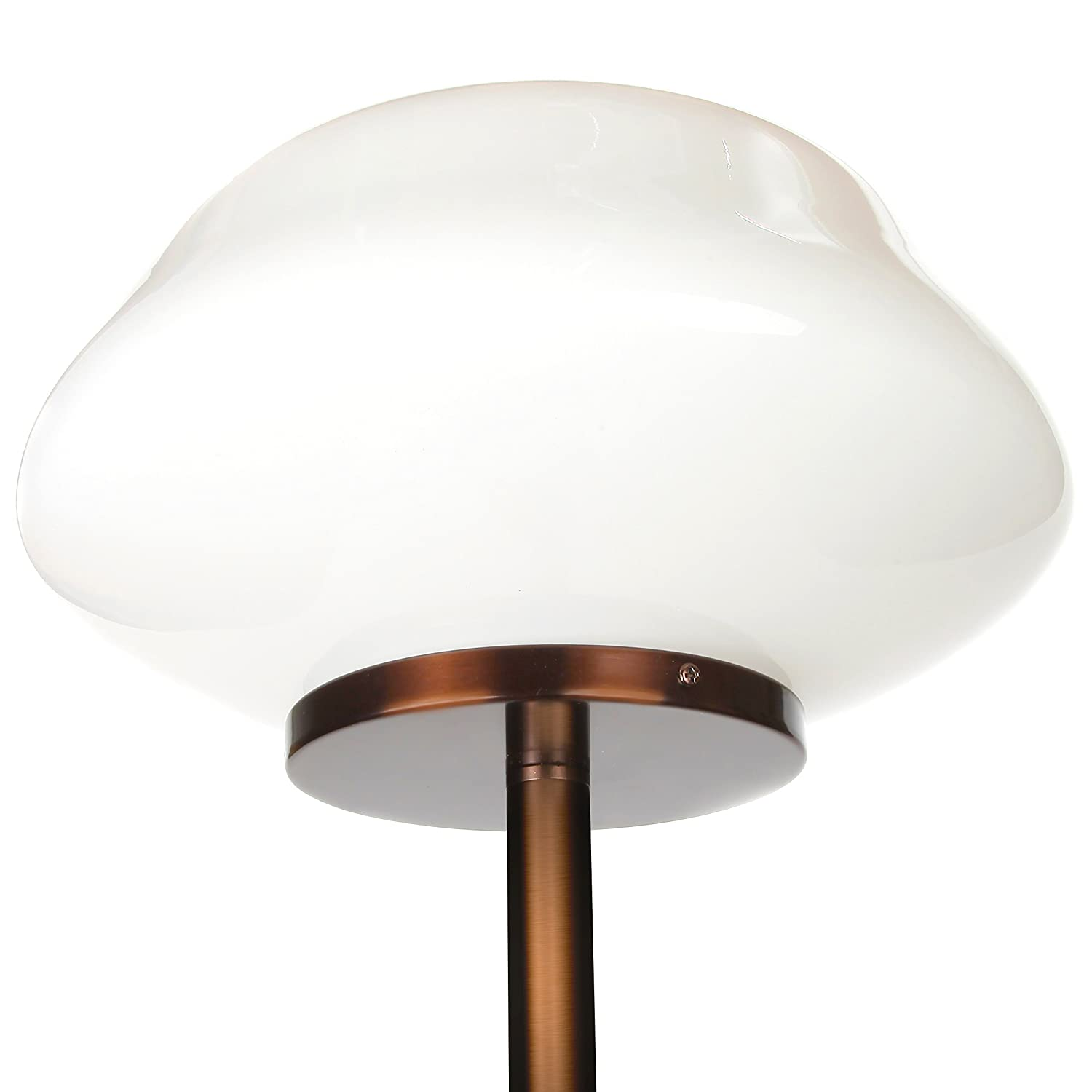Brightech Aiden LED Floor Lamp Bronze BT-FL-ADN-BRNZ Contemporary Modern Frosted Glass Globe Lamp- Tall Pole Standing Uplight Lamp for Living Room Den Office or Bedroom- Energy Efficient Bulb Included