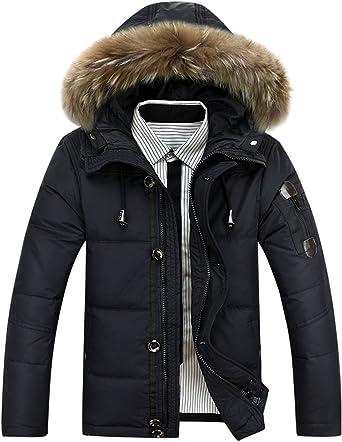 Mens Black Parka With Fur Hood