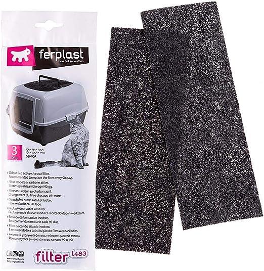 Filtro L483 Kit de filtros de Recambio para Las Cajas de Arena para Gatos GENICA, Filtros