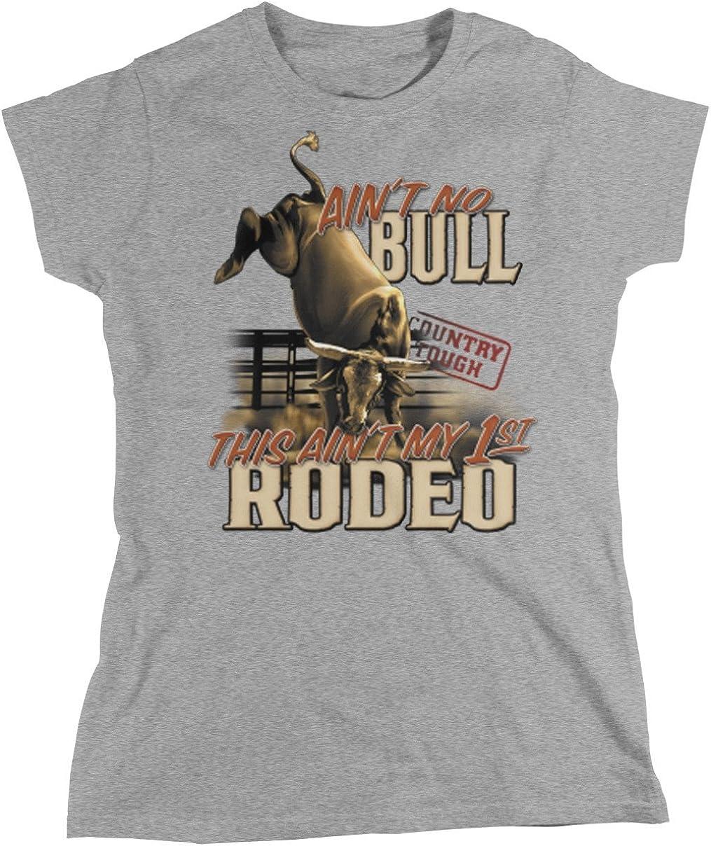 Amdesco Aint No Bull, Country Tough, Rodeo - Camiseta para Mujer - - XX-Large: Amazon.es: Ropa y accesorios