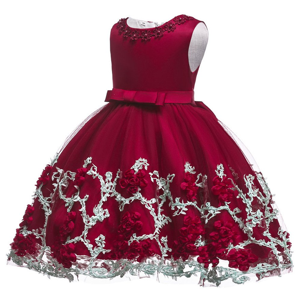 685277be7 Amazon.com  OwlFay Baby Girl Dress Lace Embroidery Bead Baptism ...