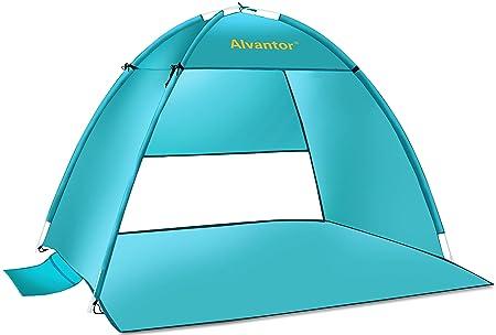 Alvantor Beach Tent Coolhut Plus Beach Umbrella Outdoor Sun Shelter Cabana Automatic Instant Pop-Up UPF 50 Sun Shade Portable Camping Canopy Easy Set Up Light Weight Windproof