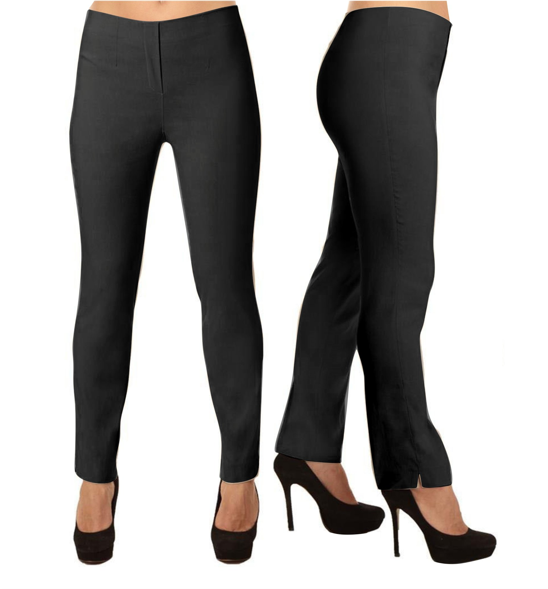 Lior Paris LIZE a Classic Fit Straight Pant For EveryBody. (4, Black) by Lior paris