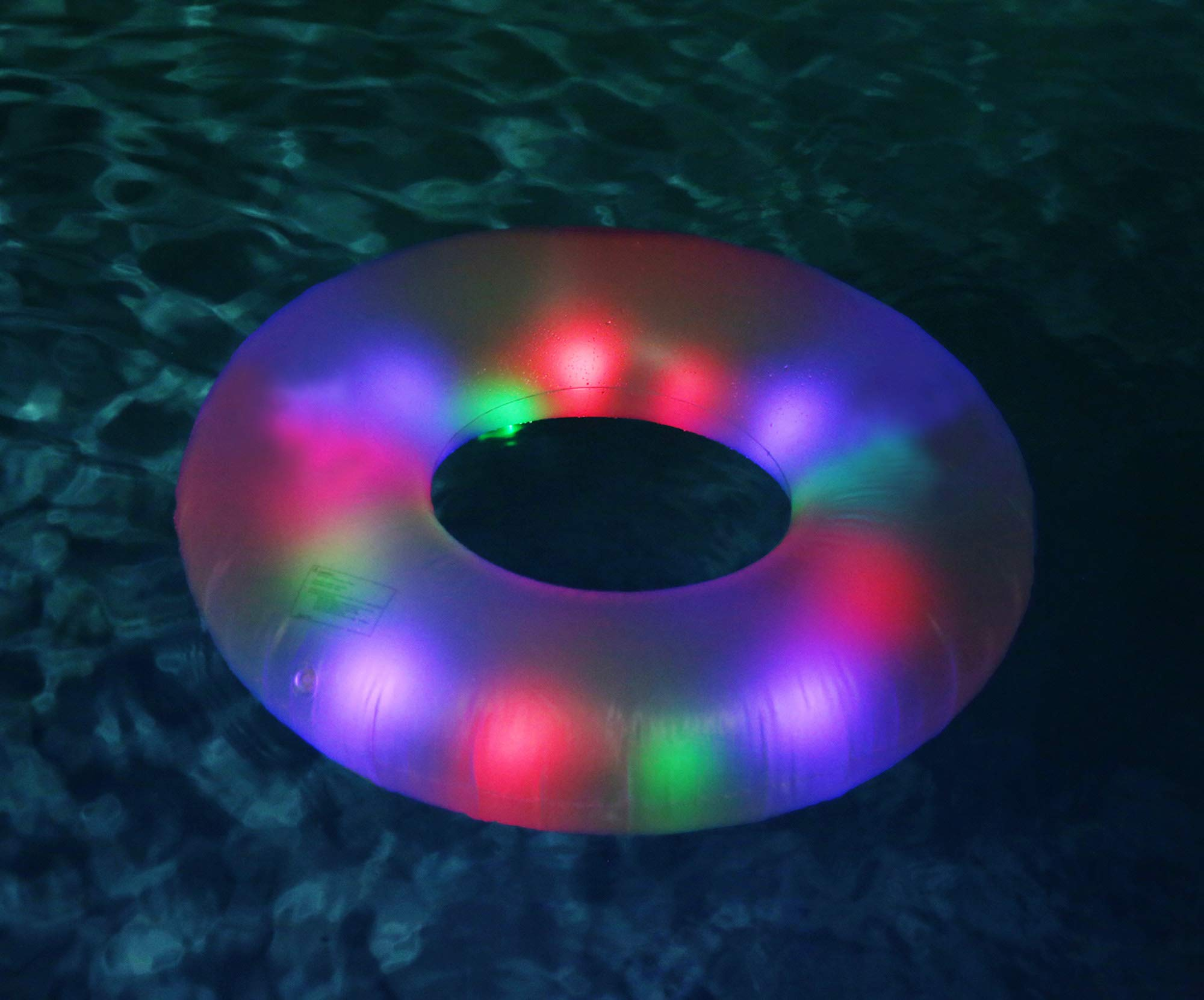 Pool Candy Deluxe Illuminated Water Tube with Handles by Pool Candy
