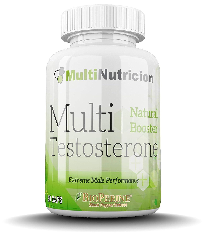 Multi Testosterone | Testosterona Natural| Bioperine® Fenogreco Tribulus D-aspartico Ashwagandha Citrulina| (180): Amazon.es: Salud y cuidado personal