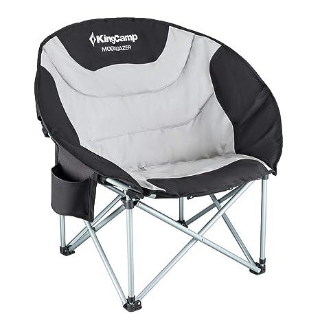 KingCamp Moon Chair - Silla Plegable (Soporta hasta 150 kg ...