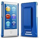 Apple iPod nano 7 ケース クリップ ハード カバー MY WAY 7th PC Clip Case + 保護 フィルム メタリック ブルー