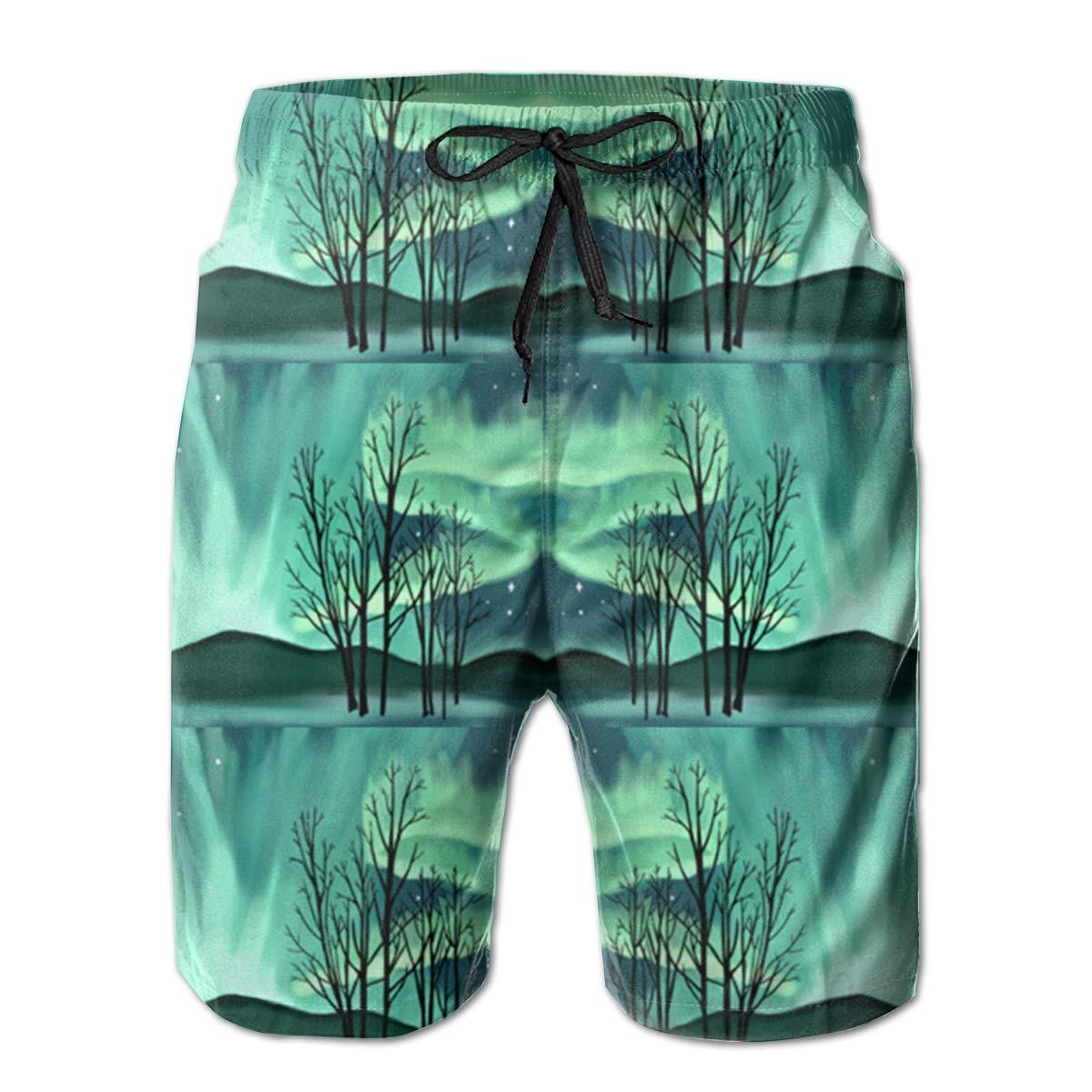 Aurora Men/â/€s Beach Board Shorts Quick Dry Swim Truck Shorts
