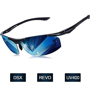 Elegear Gafas de Sol Hombre Polarizadas Gafas Ciclismo Anti Rayos UVA Marco Aleación de Aluminio,