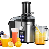 GEARGO Juicer Extractor, Wide Mouth LED Display Stainless Steel Centrifugal Juicer, 800W Motor, Easy Clean Four Speed Juicer Machine for Fruits and Vegetable, BPA-Free