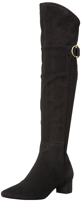 4e093d9f1f5c Calvin Klein Women's GEORGEANNA Over The Over The Knee Boot Black 5 Medium  US