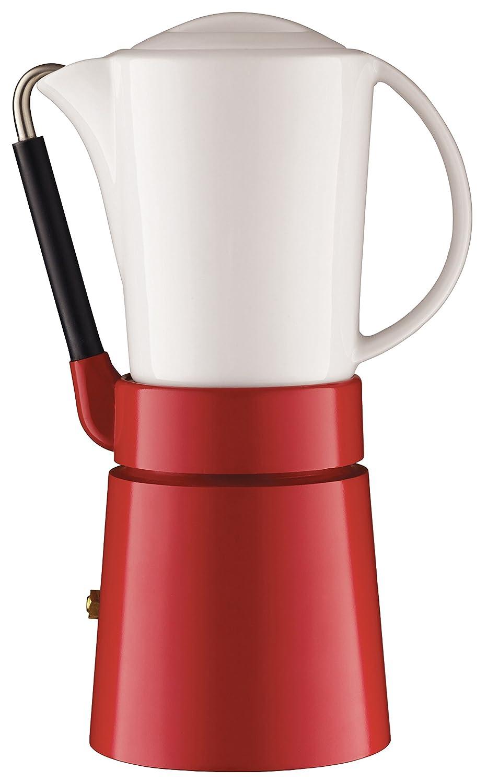 aerolatte Caffé Porcellana / Stovetop Espresso Maker, 4-Cup / 250 ml, Red 56CP2RD